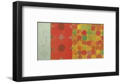 Flowers and Dots #1-Bill Mead-Framed Art Print