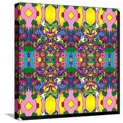 Flowers And Dove-Howie Green-Stretched Canvas Print