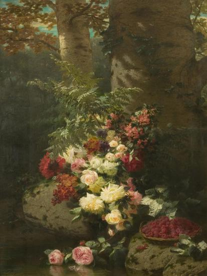 Flowers and Fruit-Jean Baptiste Claude Robie-Giclee Print