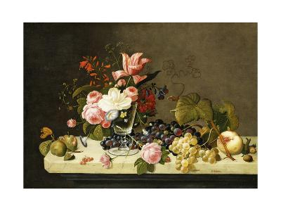Flowers and Fruit-Severin Roesen-Giclee Print