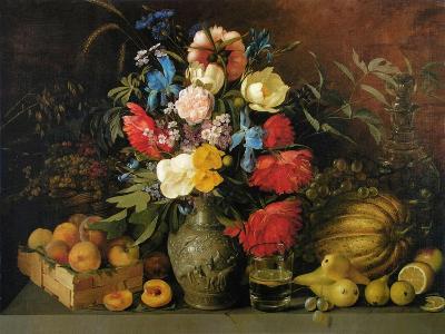 Flowers and Fruits, 1839-Ivan Phomich Khrutsky-Giclee Print