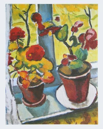 Flowers at the Window, Begonias-Auguste Macke-Art Print