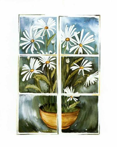 Flowers at the Window II-P. Sonja-Art Print