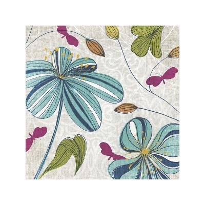Flowers & Butterflies-Tandi Venter-Giclee Print