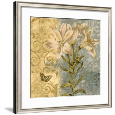 Flowers Butterfly II-Emma Hill-Framed Art Print