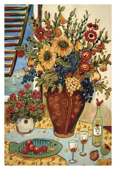 Flowers By The Window-Suzanne Etienne-Art Print