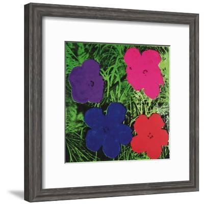 Flowers, c.1964 (1 purple, 1 blue, 1 pink, 1 red)-Andy Warhol-Framed Art Print