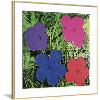 Flowers, c. 1964 (1 purple, 1 blue, 1 pink, 1 red)-Andy Warhol-Framed Art Print