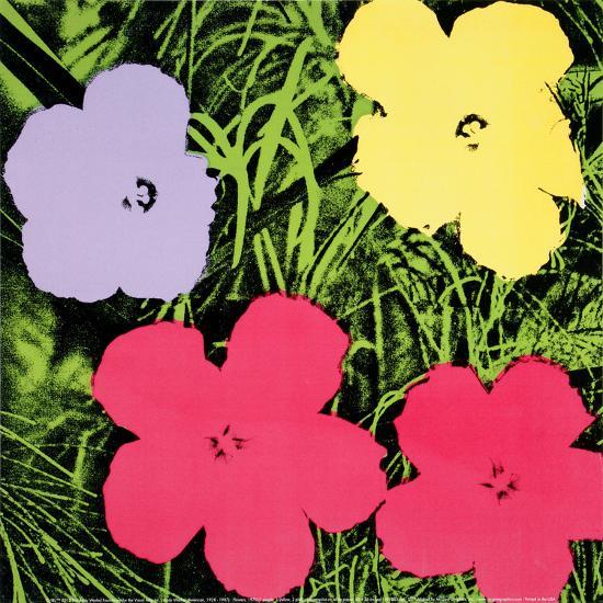 Flowers, c.1970 (1 purple, 1 yellow, 2 pink)-Andy Warhol-Art Print