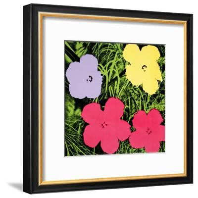 Flowers, c.1970 (1 purple, 1 yellow, 2 pink)-Andy Warhol-Framed Art Print