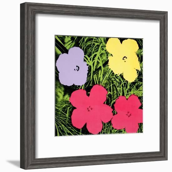 Flowers, c.1970 (1 purple, 1 yellow, 2 pink)-Andy Warhol-Framed Art Print