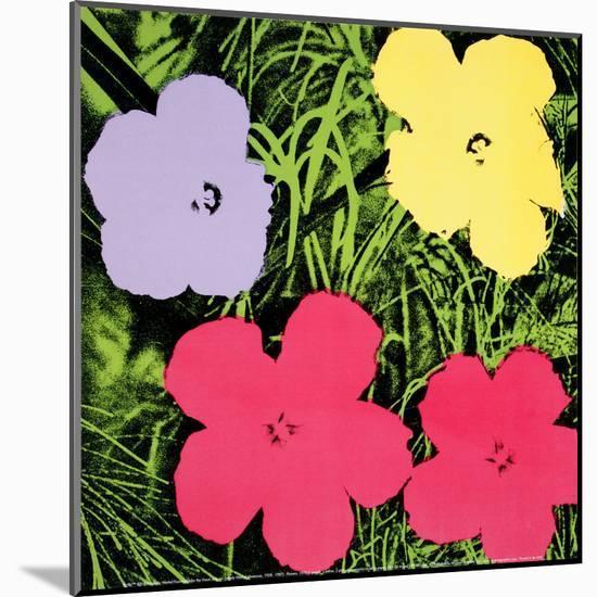 Flowers, c.1970 (1 purple, 1 yellow, 2 pink)-Andy Warhol-Mounted Art Print