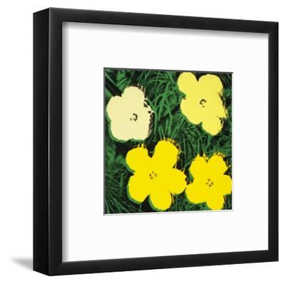 Flowers, c.1970 (Yellow)-Andy Warhol-Framed Art Print