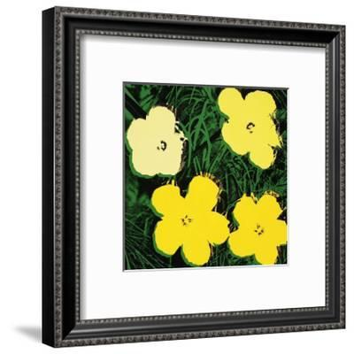 Flowers, c.1970 (Yellow)-Andy Warhol-Framed Giclee Print