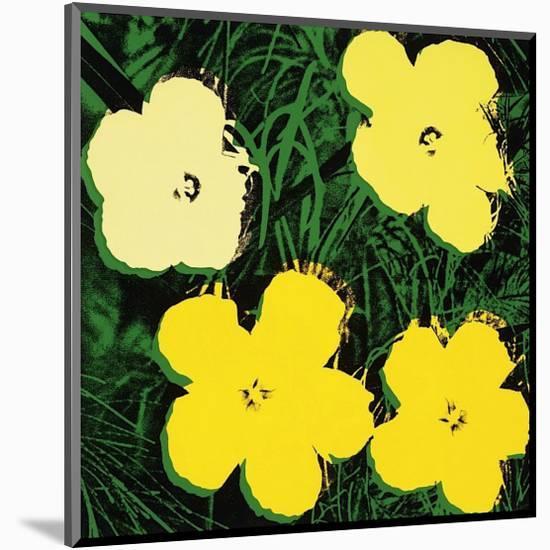 Flowers, c.1970 (Yellow)-Andy Warhol-Mounted Giclee Print