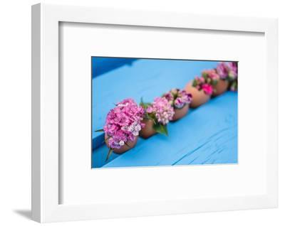 Flowers decorated in eggshells, Still life Easter-mauritius images-Framed Photographic Print
