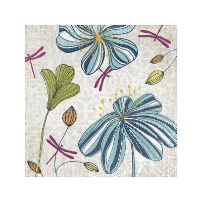 Flowers & Dragonflies-Tandi Venter-Giclee Print