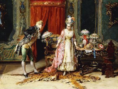 Flowers for her Ladyship-Cesare Auguste Detti-Giclee Print