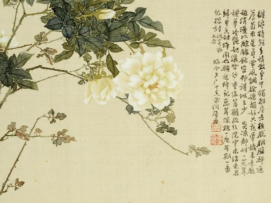 Flowers, from an Album of Ten Leaves-Ju Lian-Giclee Print