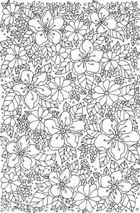 Flowers & Greenery Coloring Art