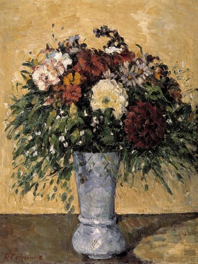 Flowers in a Blue Vase, 1873-1875-Paul C?zanne-Giclee Print