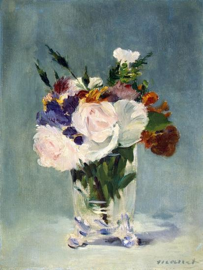 Flowers in a Crystal Vase-Edouard Manet-Photographic Print