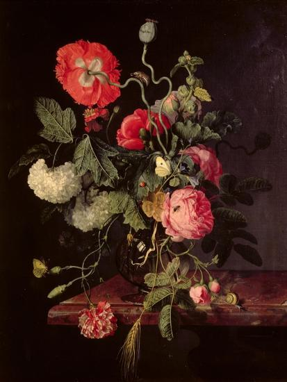 Flowers In A Glass Vase 1667 Giclee Print By Jacob Van Walscapelle