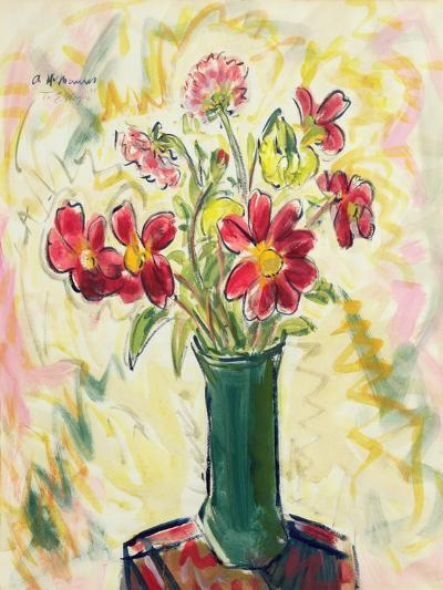 Flowers in a Green Vase, 1928-Alfred Henry Maurer-Giclee Print