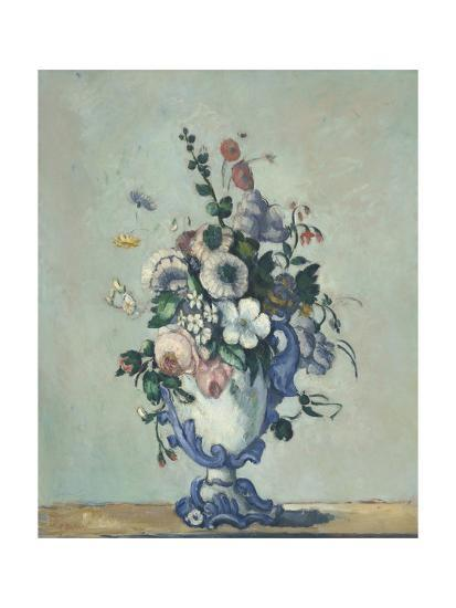 Flowers in a Rococo Vase, 1876-Paul Cezanne-Giclee Print