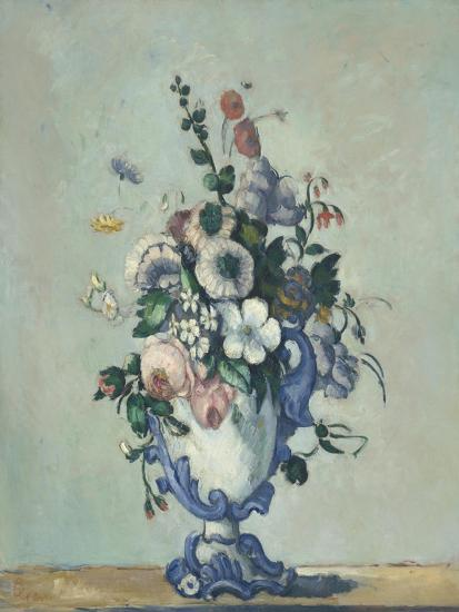 Flowers in a Rococo Vase, c.1876-Paul Cezanne-Giclee Print