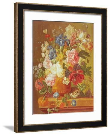 Flowers in a Vase, 1789-Paul Theodor van Brussel-Framed Giclee Print