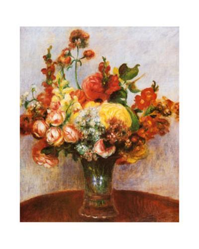 Flowers in a Vase-Pierre-Auguste Renoir-Art Print