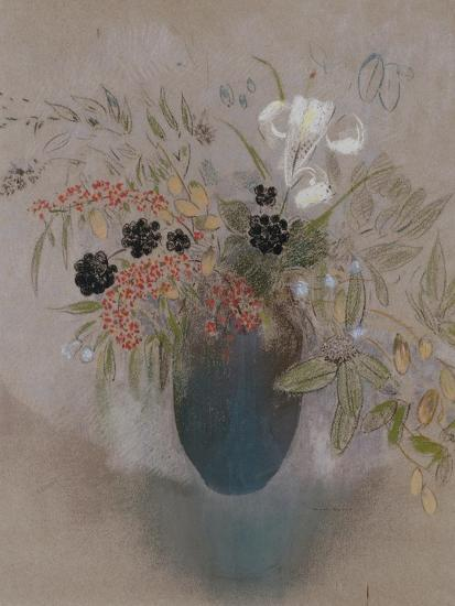 Flowers in a Vase-Odilon Redon-Giclee Print