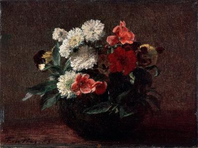 Flowers in an Earthenware Vase, 1883-Henri Fantin-Latour-Giclee Print