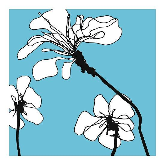 Flowers in Blue 1-Mette Loeber-Art Print