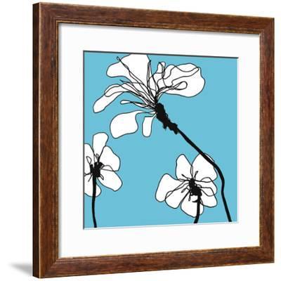 Flowers in Blue 1-Mette Loeber-Framed Art Print