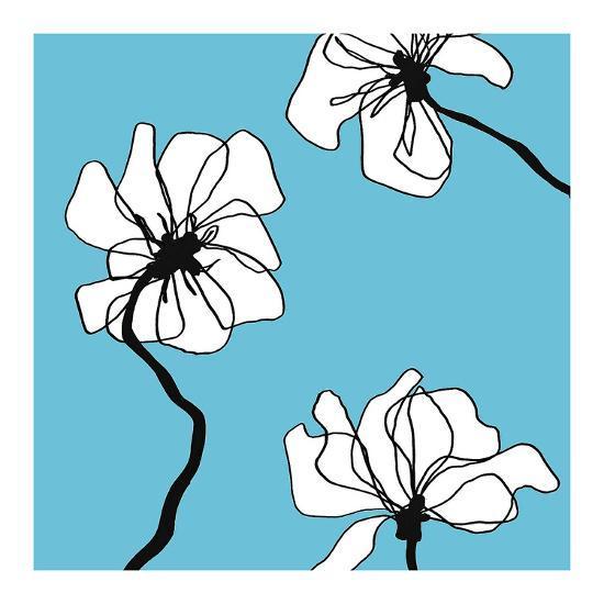 Flowers in Blue 2-Mette Loeber-Art Print