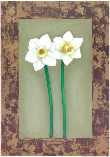 Flowers In Brown Frame III- Ferrer-Art Print