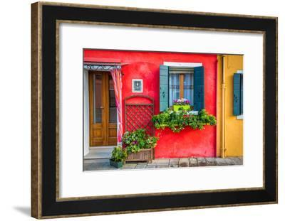 Flowers in Burano-Marco Carmassi-Framed Photographic Print