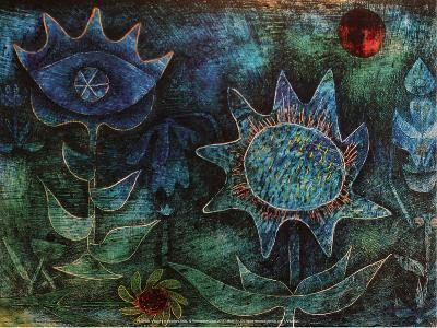 Flowers in the Night (1930)-Paul Klee-Art Print