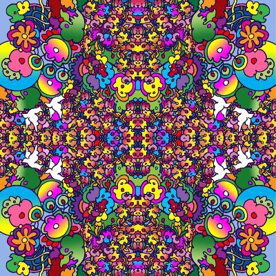 Flowers Kalidescope-Howie Green-Giclee Print