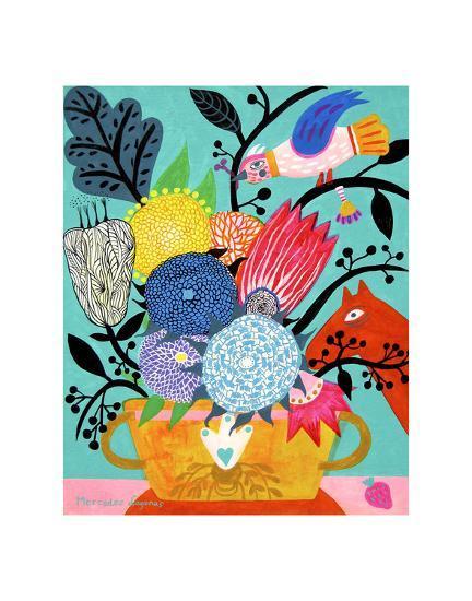 Flowers n. 8-Mercedes Lagunas-Art Print