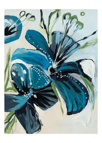 Flowers of Azure I-Angela Maritz-Art Print