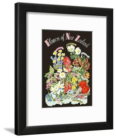 Flowers of New Zealand-Howard Mallitte-Framed Art Print
