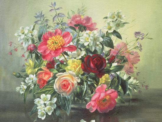 Flowers of Romantic June-Albert Williams-Giclee Print