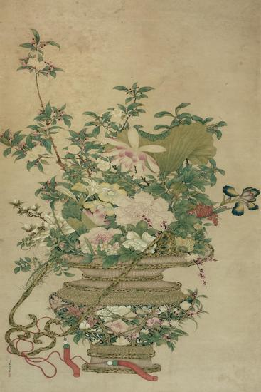 Flowers of the Four Seasons, Qing dynasty, 18th-19th century-Chinese School-Giclee Print