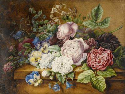 Flowers on a Ledge, 1814-Ernestine Panckoucke-Giclee Print