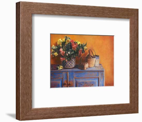 Flowers on Gramma's Sideboard I-M^ De Flaviis-Framed Art Print