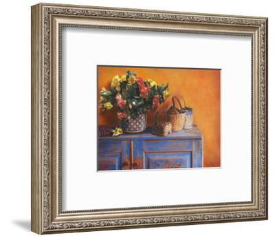 Flowers on Gramma's Sideboard I-M. De Flaviis-Framed Art Print