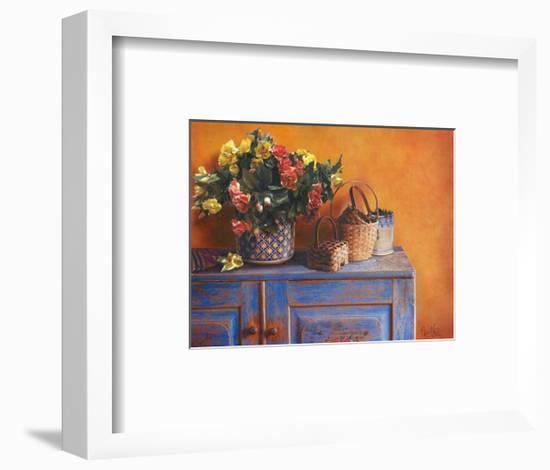 Flowers on Gramma's Sideboard I-M. De Flaviis-Framed Art Print